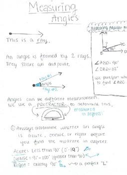 Measuring Angles in 4th grade