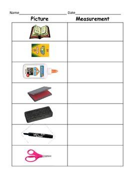Measuring Classroom Items (Kindergarten, First Grade, Seco
