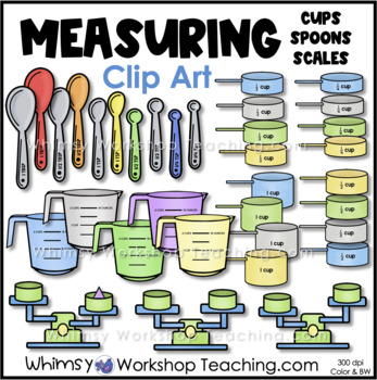 Measuring Cups, Measuring Spoons and Scale Clip Art - Whim