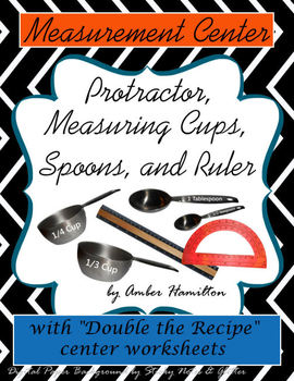 Measuring Cups, Spoons, Ruler, printables, Fractions cente