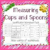 Measuring Cups and Spoons Identification Worksheets - Spec