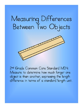 Measuring Differences SCOOT Activity - Common Core Second