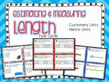 Measuring & Estimating Length Task Cards