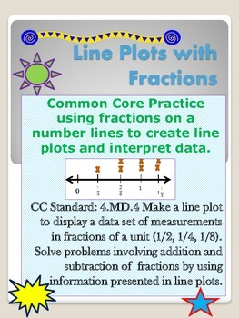Measuring Fractions Data using a Line Plot CC 4.MD.B.4