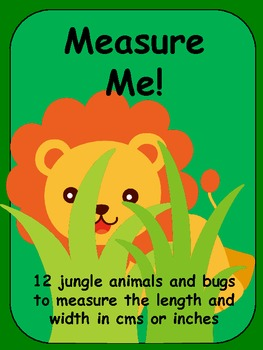 Measuring Jungle Animals and Bugs with Centimeters or Inches