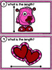 Measuring Length - Valentine's Day Measurement Cards