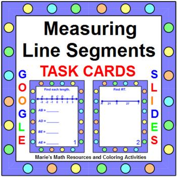 Measuring Line Segments - TASK Cards (20 cards)
