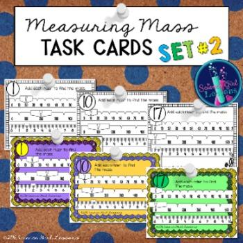 Measuring Mass TASK CARDS, Set #2 {Reading a Triple Beam Balance}