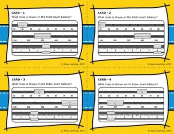 Measuring Mass Using a Triple-Beam Balance - Bilingual Bundle