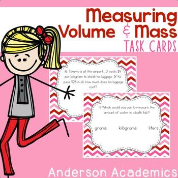 Measuring Mass & Volume Task Cards {3.MD.2}