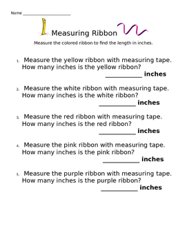 Measuring Ribbon in Inches