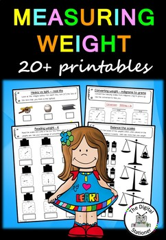 Measuring Weight - 20 printables (Measurement & Data)