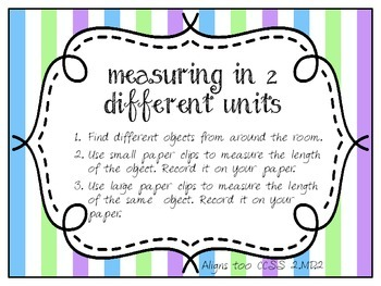 Measuring in 2 Units - Paperclips (2.MD.2)