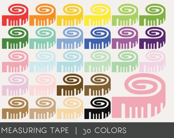 Measuring tape Digital Clipart, Measuring tape Graphics, M