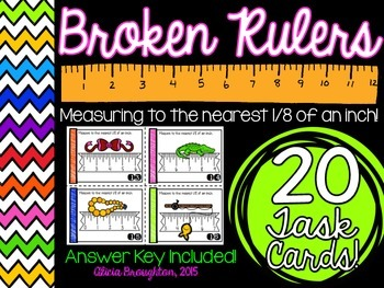 Measuring to the Nearest 1/8 Inch Task Cards
