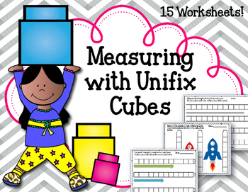 Measuring with Unifix Cubes! Worksheets