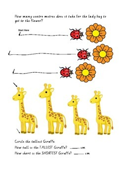 Measuring with animals worksheet