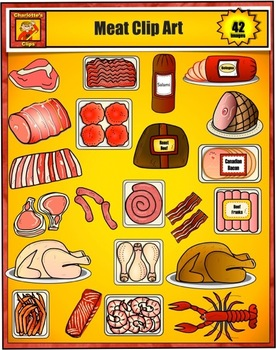 Food Clip Art - Meat and Seafood from Grocery Store by Cha