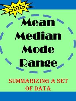 Medan, Median, Mode and Range