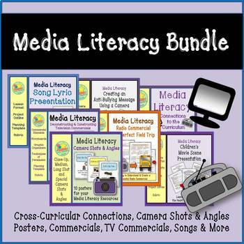 Media Literacy Bundle - Commercials, Song Lyrics, Movie Sc