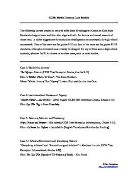 Media Literacy ELA Curriculum Development for CCSS