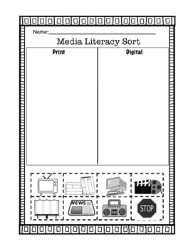 Media Literacy Sort