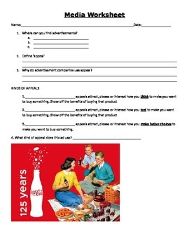 Media Worksheet