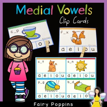 Medial Vowel Clip Cards ~ CVC Words