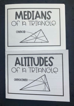 Median, Centroid, Altitude, and Orthocenter (Geometry Foldable)