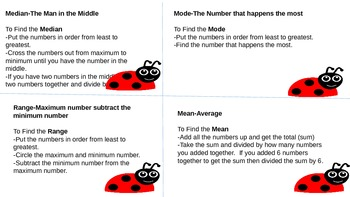 Median, Mode, Range, Mean Task Cards