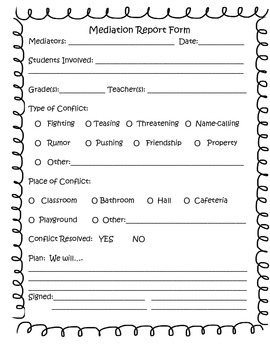 Mediation Report Form