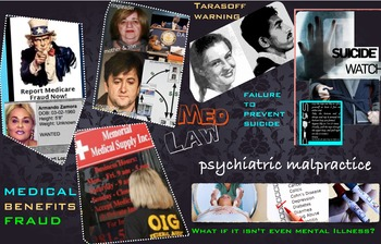 Medical Law ~ FREE POSTER ~ Psychiatric Malpractice & Bene