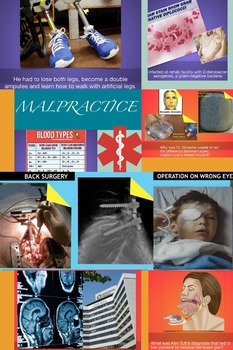 Medical Malpractice Law  ~ Top Cases ~ FREE POSTER