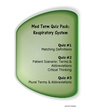 Medical Terminology Quiz Pack: Respiratory System