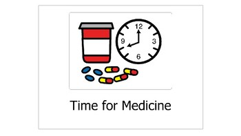 Medication Social Story and Interactive Step-by-Step Chart