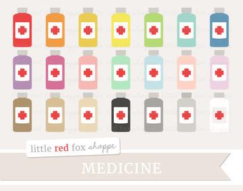 Medicine Bottle Clipart; Medical, Pill, Tablet, Doctor, Nurse