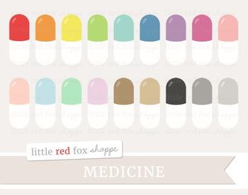 Medicine Capsule Clipart