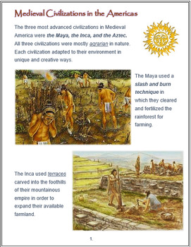 """""""Medieval Civilizations in America"""" - An Overview + Assessments"""