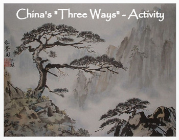 """Medieval China - """"China's 3 Ways""""  Activity / Assessment"""