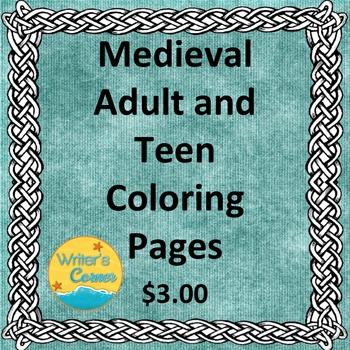 Medieval Adult Teen Coloring Pages, Visual Art, Fun Stuff,