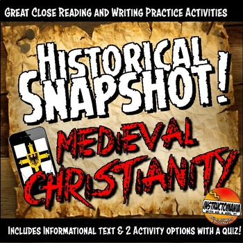 Medieval Europe Historical Snapshot Close Reading Investigation