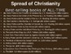 Medieval Europe (PART 1: SPREAD OF CHRISTIANITY) engaging