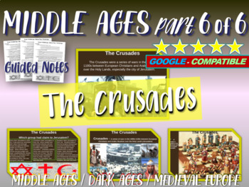 Medieval Europe (PART 6: THE CRUSADES) engaging 88-slide M