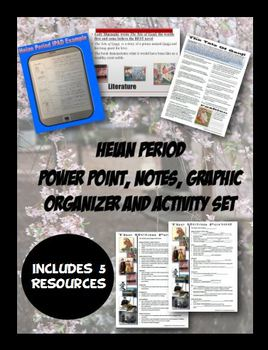 Medieval Japan Heian Period Notes and Activity Bundle