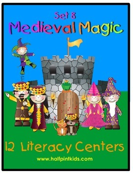 Medieval Magic Literacy Centers: Half-Pint Readers Set 8