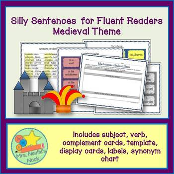 Medieval Word Work - Silly Sentences for Fluent Readers