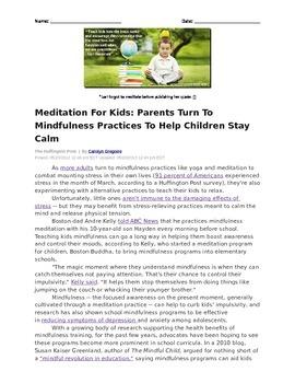 Meditation Article
