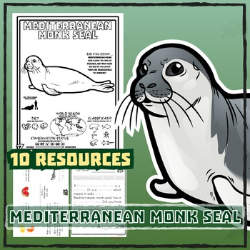 Mediterranean Monk Seal -- 10 Resources -- Coloring Pages,
