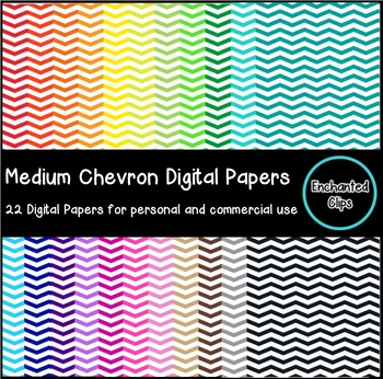 Medium Chevron Digital Papers- 22 Papers for Personal and
