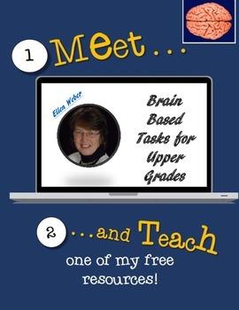 Meet Ellen Weber and Teach FREE Brain Based Tasks